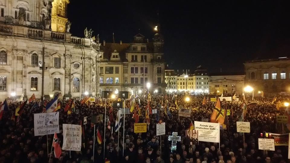 Out in force at Dresden PEGIDA after IS attack in France ...  Out in force at...