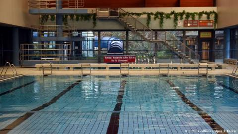 The Public Indoor Swimming Pool In Bornheim Where Migrant Men Were  Temporarity Banned For Sexual Harrassment Of Women, But Have Now Been  Allowed To Return.